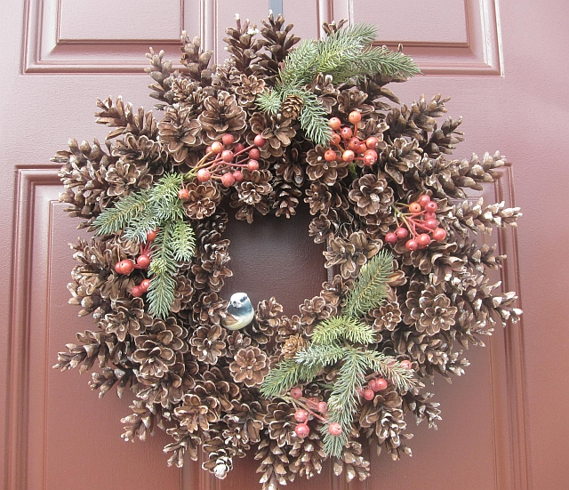 How to make a pine cone wreath our garden plot Christmas wreaths to make